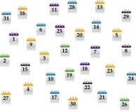Jogo do calendário de Abstrakt Fotografia de Stock
