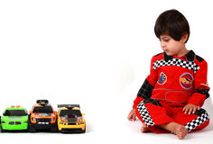 Jogo do carro de corridas Imagens de Stock Royalty Free