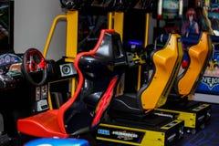 Jogo do carro de corridas fotografia de stock royalty free
