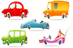 Jogo do carro dos desenhos animados Imagem de Stock Royalty Free