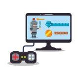 jogo do cavaleiro da contagem do controlador do computador do jogo online Fotos de Stock Royalty Free