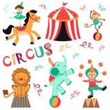 Grupo do circo ilustração royalty free