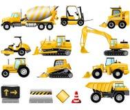 Jogo do ícone da construção Fotos de Stock Royalty Free