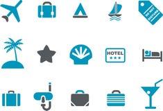Jogo do ícone das férias Imagens de Stock