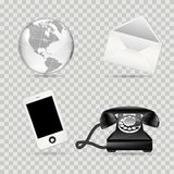 Jogo do ícone de uma comunicação Imagens de Stock