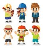 Jogo do ícone do miúdo dos desenhos animados Fotos de Stock