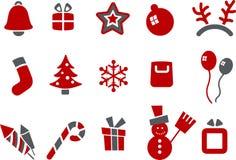 Jogo do ícone do Natal Imagens de Stock Royalty Free