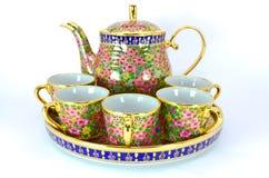 Jogo do copo de chá tailandês Fotografia de Stock Royalty Free