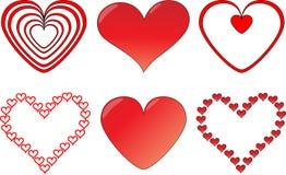 Jogo do coração Fotos de Stock Royalty Free