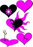 Jogo do coração de Emo Fotografia de Stock Royalty Free