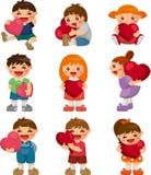 Jogo do coração do hug do miúdo ilustração stock