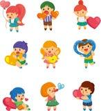 Jogo do coração do hug do miúdo ilustração do vetor