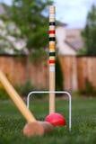 Jogo do croquet no pátio traseiro Imagem de Stock