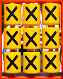 Jogo do dedo do pé XO do tac do tique Foto de Stock Royalty Free