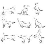 Jogo do desenho do cão Imagens de Stock Royalty Free