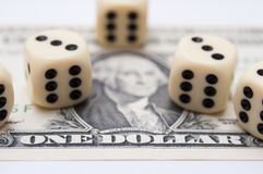 Jogo do dinheiro Imagens de Stock Royalty Free