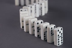 Jogo do dominó foto de stock