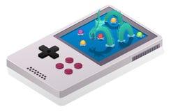Jogo do dragão do mar no console ilustração royalty free