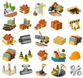 Jogo do edifício e da construção Fotos de Stock Royalty Free