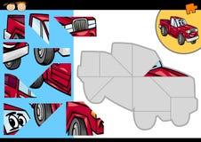 Jogo do enigma de serra de vaivém do carro dos desenhos animados Fotografia de Stock Royalty Free
