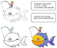 Jogo do enigma dos desenhos animados Fotografia de Stock Royalty Free