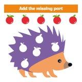 Jogo do enigma Jogo educacional visual para crianças Tarefa: encontre as peças faltantes Folha para crianças prées-escolar Fotos de Stock Royalty Free