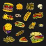 Jogo do fast food ilustração royalty free