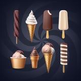 Jogo do gelado ilustração stock