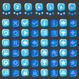 Jogo do gelo e botões dos níveis Imagens de Stock