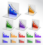 Jogo do gráfico de negócio do vetor Fotografia de Stock