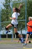 Jogo do handball da juventude Imagens de Stock Royalty Free