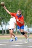 Jogo do handball da juventude Imagens de Stock