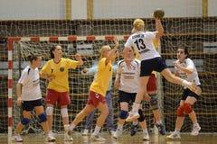 Jogo do handball de Kaposvar - de Balatonboglar Foto de Stock Royalty Free