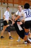 Jogo do handball de Kaposvar - de Csurgo Foto de Stock