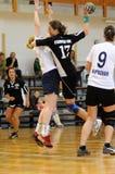 Jogo do handball de Kaposvar - de Csurgo Foto de Stock Royalty Free