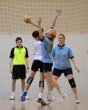 Jogo do handball de Kaposvar - de Kormend Fotografia de Stock Royalty Free