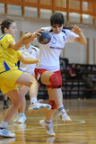 Jogo do handball de Kaposvar - de Szekszard Imagem de Stock Royalty Free
