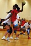 Jogo do handball de Siofok - de Angola Imagens de Stock Royalty Free