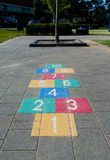 Jogo do Hopscotch Fotografia de Stock