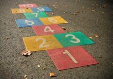 Jogo do Hopscotch Fotografia de Stock