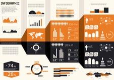 Jogo do infographics do detalhe. Foto de Stock Royalty Free