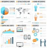 Jogo do infographics do vetor Fotos de Stock