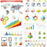 Jogo do infographics do vetor Imagens de Stock Royalty Free