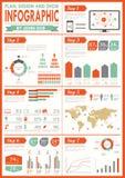 Jogo do infographics do vintage. Fotografia de Stock Royalty Free