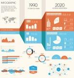 Jogo do infographics do vintage. Foto de Stock Royalty Free