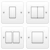 Jogo do interruptor leve ilustração stock