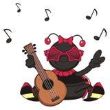 Jogo do joaninha na guitarra ilustração stock
