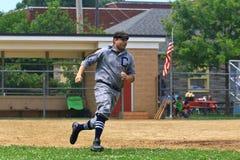 Jogo do jogo de basebol Fotografia de Stock