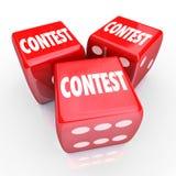 Jogo do jogo do rolo da palavra dos dados da competição a ganhar Fotos de Stock