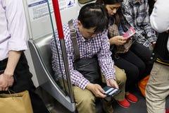 Jogo do jogo no trem Imagens de Stock